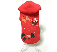 Dog Hoodie Red Dog Clothes Winter Animal Cute / Fashion / Keep Warm / Christmas