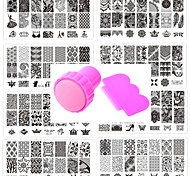 cheap -# Stamping Plate Outfits Flower Nail Stamping Template Nail Art Tool