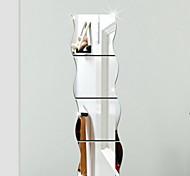 Геометрия 3D Наклейки Зеркальные стикеры Декоративные наклейки на стены,Винил Украшение дома Наклейка на стену For Стена