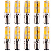 cheap -YWXLIGHT® 10pcs 7W 500-700lm BA15D LED Corn Lights T 80 LED Beads SMD 5730 Dimmable Decorative Warm White Cold White 110-220V