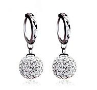 Women's Stud Earrings Ball Earrings Earrings Basic Classic Silver Sterling Silver Cubic Zirconia Imitation Diamond Ball Jewelry For