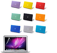 "cheap -Case for Macbook Air 13.3"" Solid Color Plastic Material Top Quality Full Body Matte Case and Screen Protetive Film"