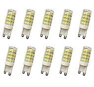 e14 g9 g4 led bi-pin luces t 51led smd 2835 400-450lm blanco cálido frío blanco decorativo ac110 ac220v