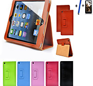 Matte Litchi Surface Flip PU Leather Case For apple Ipad Mini 1 2 3 Tablet With Free Screen Protector+ Pen