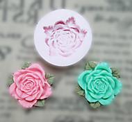 Flor Com Folhas Silicone Mold flores Ferramentas Fondant Moldes Sugar Craft Resina Mould moldes para bolos