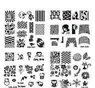 Недорогие -Цветы - Прочие украшения - 10pcs nail plate - 6.2cmX6.2cm each piece - Металл - Пальцы рук / Пальцы ног