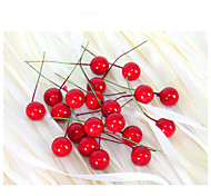2Cm 20Pcs Small Simulation Pomegranate Fruit Berries Artificial Flower Red Christmas Cherry Stamen Wedding Party Festival Decor