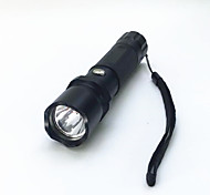 LED Flashlights / Torch LED 800 lm 3 Mode LED Adjustable Focus Waterproof Compact Size Super Light Zoomable for Camping/Hiking/Caving