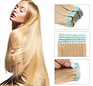 Недорогие -30-50g / пакет 16-24inch бразильская лента выдвижение человеческих волос # 24 ленты в наращивание волос человека 002