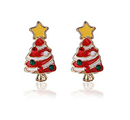 cheap -Women's Girls' Stud Earrings Cute Style Christmas Alloy Jewelry Christmas Gifts Party Daily Costume Jewelry