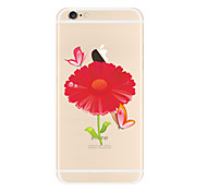 Red flowers Pattern TPU Soft Case Cover for Apple iPhone 7 7 Plus iPhone 6 6 Plus iPhone 5 SE 5C iPhone 4