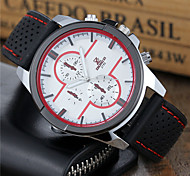 Men's Sport Watch Dress Watch Fashion Watch Wrist watch Quartz Silicone Band Cool Casual Black White Red