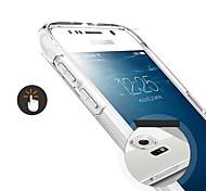 exco ultra delgado caso de la cubierta suave bolsa transparente del teléfono celular de samsung galaxy s6 / g9250