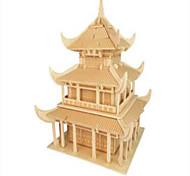 Недорогие -Деревянные пазлы Знаменитое здание Китайская архитектура профессиональный уровень Дерево Рождество Карнавал День детей