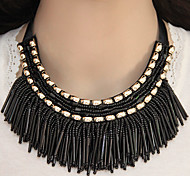 cheap -Women's Shape Tassel Fashion European Collar Necklace Statement Necklace Resin Alloy Collar Necklace Statement Necklace Party Costume