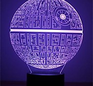 cheap -1Pcs   The Force Awakens Multi-Colored Death Star Table Lamp 3D Death Star Bulbing Light For Star Wars Fans