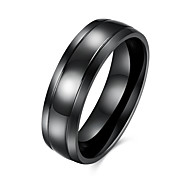 cheap -Men's Ring Black Stainless Steel Titanium Steel European Party Daily Casual Costume Jewelry