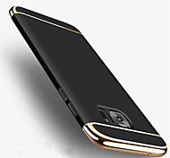 cheap -For Samsung Galaxy S8 Plus 3 in 1 Plating Case Back Cover Case Solid Color Hard PC