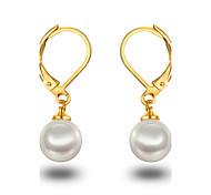 Women's Girls' Hoop Earrings Pearl Pearl Sterling Silver Imitation Pearl Platinum Plated Gray Pearl Jewelry For Wedding Party Daily Casual