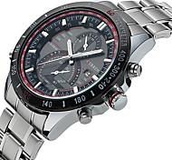 Curren Men's Sport Watch Fashion Dress Watch Calendar Water Resistant Luminous Quartz Alloy Band Luxury Multi-Colored Wrist Watch