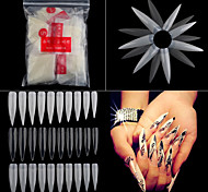 500pcs/pack Long Sharp Stiletto False Acrylic Nail Art Tips