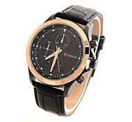 Men's Sport Watch Dress Watch Fashion Watch Automatic self-winding Calendar Large Dial Genuine Leather Band Vintage Casual Multi-Colored