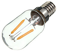 cheap -1pc 2W 170 lm E14 LED Filament Bulbs S14 2 leds COB Decorative Warm White AC 220-240V