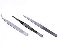 Krabbe Kingdom® Pinzette aus rostfreiem Stahl dreiteilige Modell diy elektronische Pinzette Pinzette Ellenbogen gerade Kopf Pinzette
