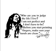 Bob Marley Wall Stickers Who are You to Judge the Life I Live Quotes Wall Decals Home Decor