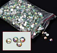 1000pcs/pack 4mm New Arrive Glitter Acrylic Nail Art AB Crystal Rhinestone Charm DIY Beauty 3d Nail Decoration Tools