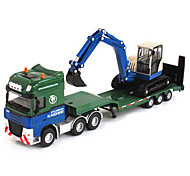 cheap -Construction Vehicle Excavator Toy Truck Construction Vehicle Toy Car 1:50 Retractable Plastic ABS Metal 1pcs Girls' Boys' Kid's Toy Gift