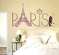 Romance Eiffel Tower Lovers Wall Stickers Fashion Paris Landscape Wall Stickers Plane Wall Stickers Home Decoration Wall Decal