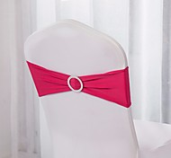 cheap -10Pcs  Spandex Chair Bands Spandex Chair Sash Stretch Lycra Chair Bands With Buckle Wedding Decoration