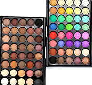 cheap -40Color/1Pcs Makeup Lots Glitter Matte Eyeshadow  Waterproof Bronzer Naked Palette Eye Shadow Nude Cosmetics