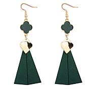 abordables -Femme Boucles d'oreille goutte - Style Simple / Européen Noir / Rouge / Vert Trèfle à Quatre Feuilles Des boucles d'oreilles Pour Soirée