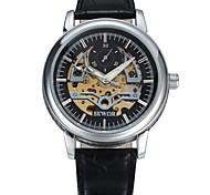 Homens Relógio Esportivo Relógio Elegante Relógio de Moda Relógio de Pulso relógio mecânico Mecânico - de dar corda manualmente Couro