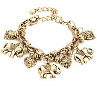 Chain Bracelet Alloy Fashion Vintage Punk Hip-Hop Handmade Movie Jewelry Heart Animal Shape Gold Silver Jewelry 1pc