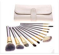 12pcs Contour Brush Makeup Brush Set Blush Brush Eyeshadow Brush Lip Brush Eyeliner Brush Eyelash Brush Concealer Brush Fan Brush Powder
