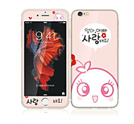 cheap -For Apple iPhone 6s/6 4.7 Tempered Glass with Soft Edge Full Screen Coverage Front Screen Protector and Back Protector Cartoon Pattern