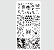 cheap -10pcs/set New Sweet Colorful Image Design Nail Stainless Steel Stamping Plate DIY Fashion Stamping Stencils Manicure Tool Nail Beauty XY-Z21-30