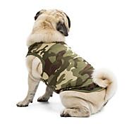 Недорогие -Кошка Собака Футболка Толстовка Жилет Одежда для собак камуфляж Черный Оранжевый Зеленый Синий Розовый Хлопок Терилен Костюм Для домашних