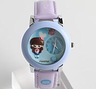 Женские Модные часы / Кварцевый силиконовый Группа Мультфильмы Повседневная Белый Синий Зеленый Фиолетовый
