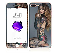 For Apple iPhone 7 Plus 5.5 Tempered Glass with Soft Edge Full Screen Coverage Front and Back Screen Protector Sexy Lady Pattern