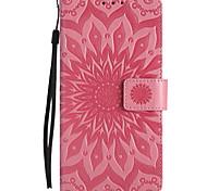 For LG V20 V10 PU Leather Material Sun Flower Pattern Embossed Phone Case X Power C70 C40 K10 K8 K5 K4 K3 G3 G4 G5