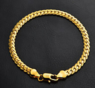 cheap -Women's Gold Plated Chain Bracelet - Classic Fashion Circle Silver Golden Bracelet For Christmas Gifts Wedding Party