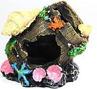 Недорогие -Оформление аквариума Орнаменты Нетоксично и без вкуса Резина пластик