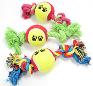 Cat Toy Dog Toy Pet Toys Ball Chew Toy Interactive Teeth Cleaning ToyCartoon Rope Elastic Dog Durable Footprint Tennis Ball Nobbly Wobbly