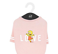 Dog Coat Dog Clothes Breathable Cute Solid Pink Costume For Pets