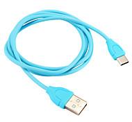 Недорогие -USB 2.0 Type-C Адаптер USB-кабеля Компактность Кабель Назначение Samsung Huawei LG Nokia Lenovo Motorola Xiaomi HTC Sony 100 cm ПВХ