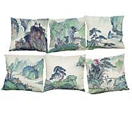 набор из 6 китайской живописи белье домашний офис диван квадратный наволочка случае нордический стиль